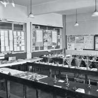 Broughton Modern Secondary School, science laboratory.