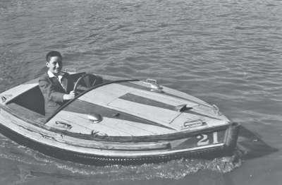 Blackpool, boat on a lake