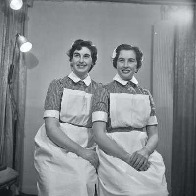 Portrait of two nurses in uniform