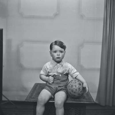 Portrait of a boy holding ball