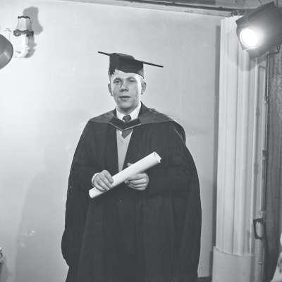 Graduation portrait of a man