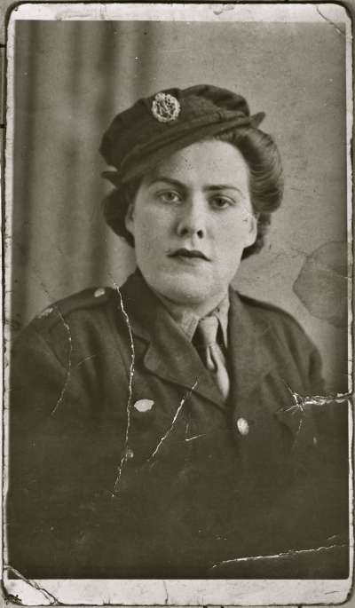 Portrait of a female soldier