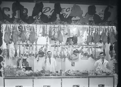 Shakespeare  Market Butchers stall, Cheetham Hill