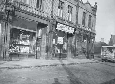 Halliwell Lane Shop Fronts, Photographic Studio, Crockatts, Midland Bank Ltd.