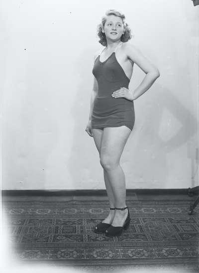 Portrait of a woman in swimwear