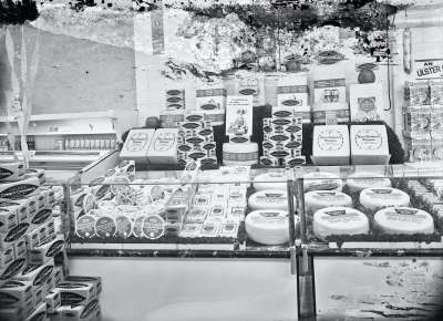 Cheese counter display