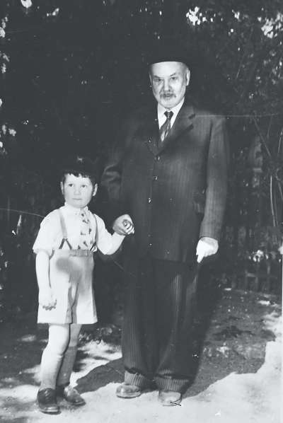 Portrait of man and boy