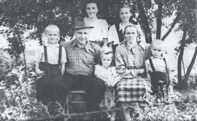 Group in rural scene