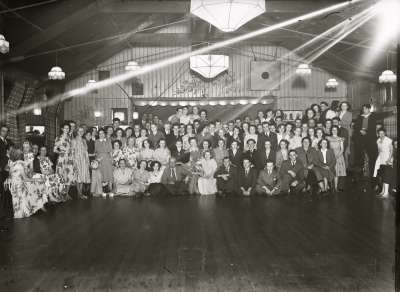 Large group in hall