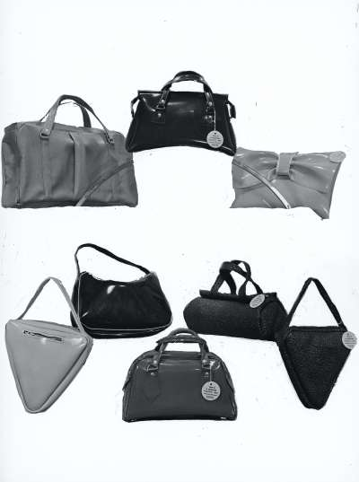 series of handbags