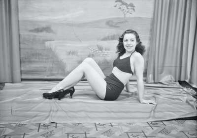 Glamour Portrait of young woman in swimwear
