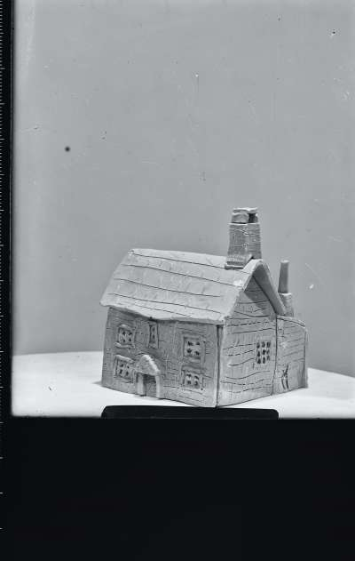 Ceramic sculpture of house