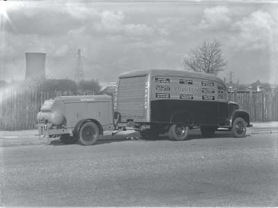 Poulton van and trailer