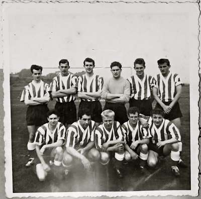 Mens football team on the pitch