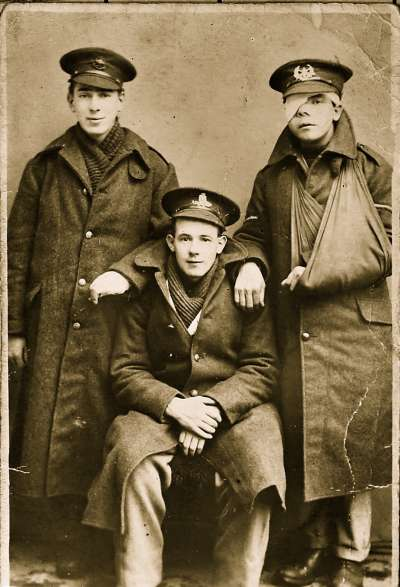 Portrait of three soldiers