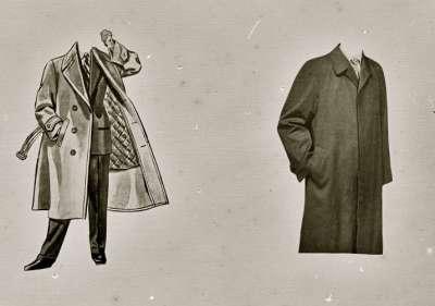 Illustration of overcoats