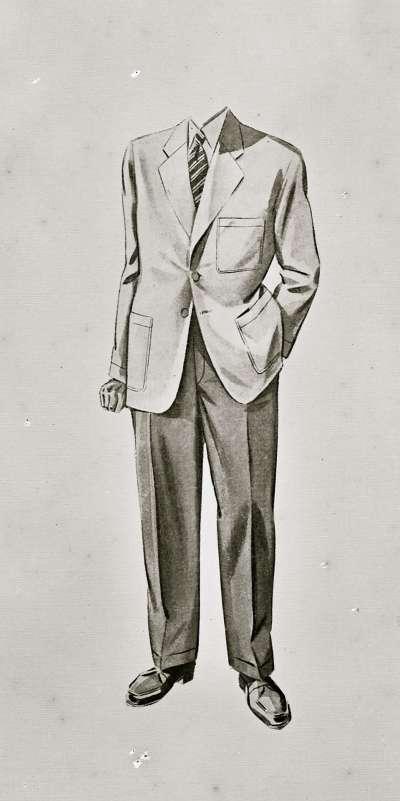 Illustration of mans suit