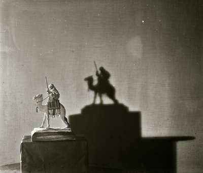 Photograph of a camel model