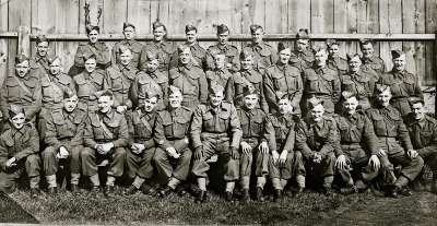 Large group of soldiers