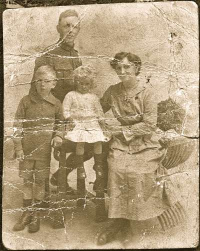 Portrait of soldier's family