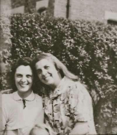 Two women in garden