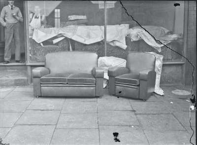 Shop front with furniture