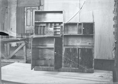 Bureau within shelving system