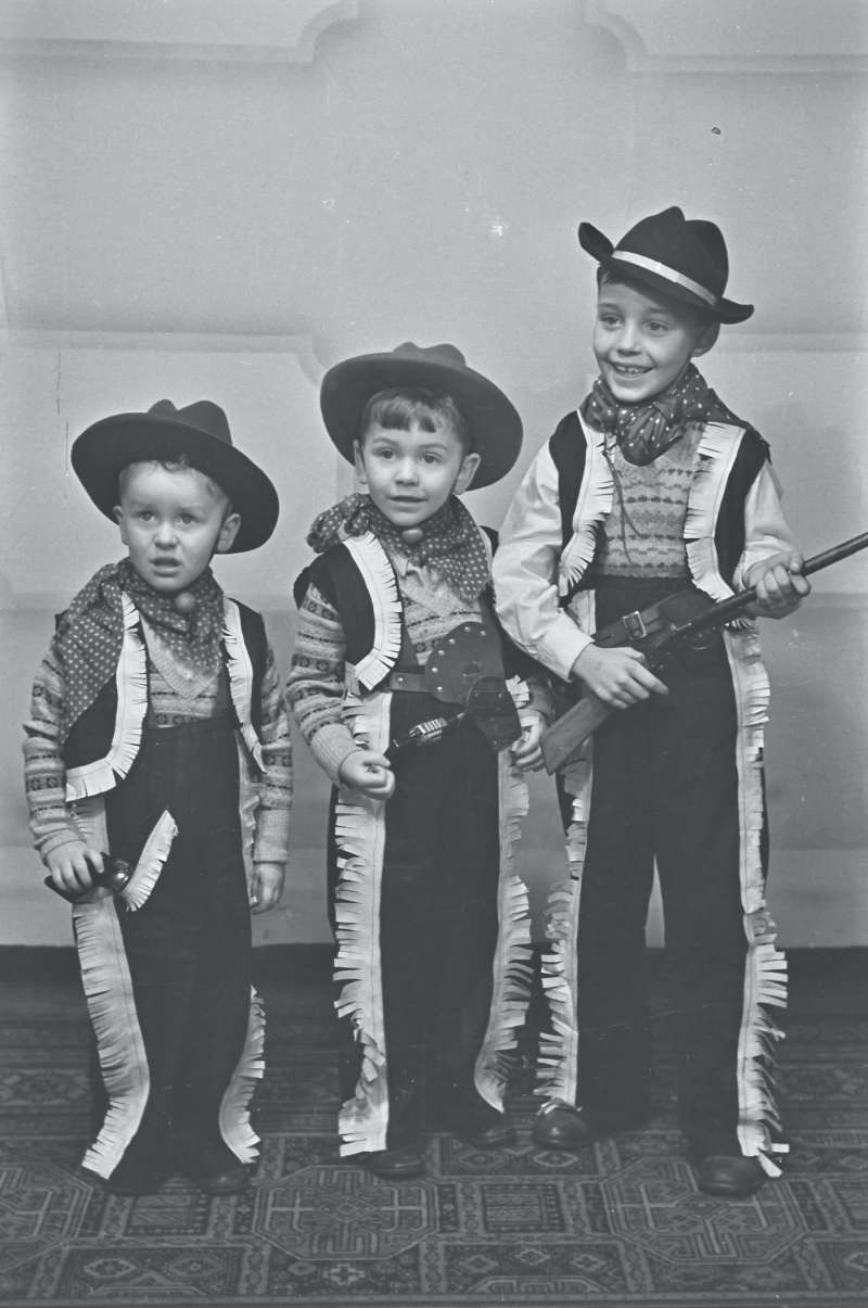 Portrait of three young boys