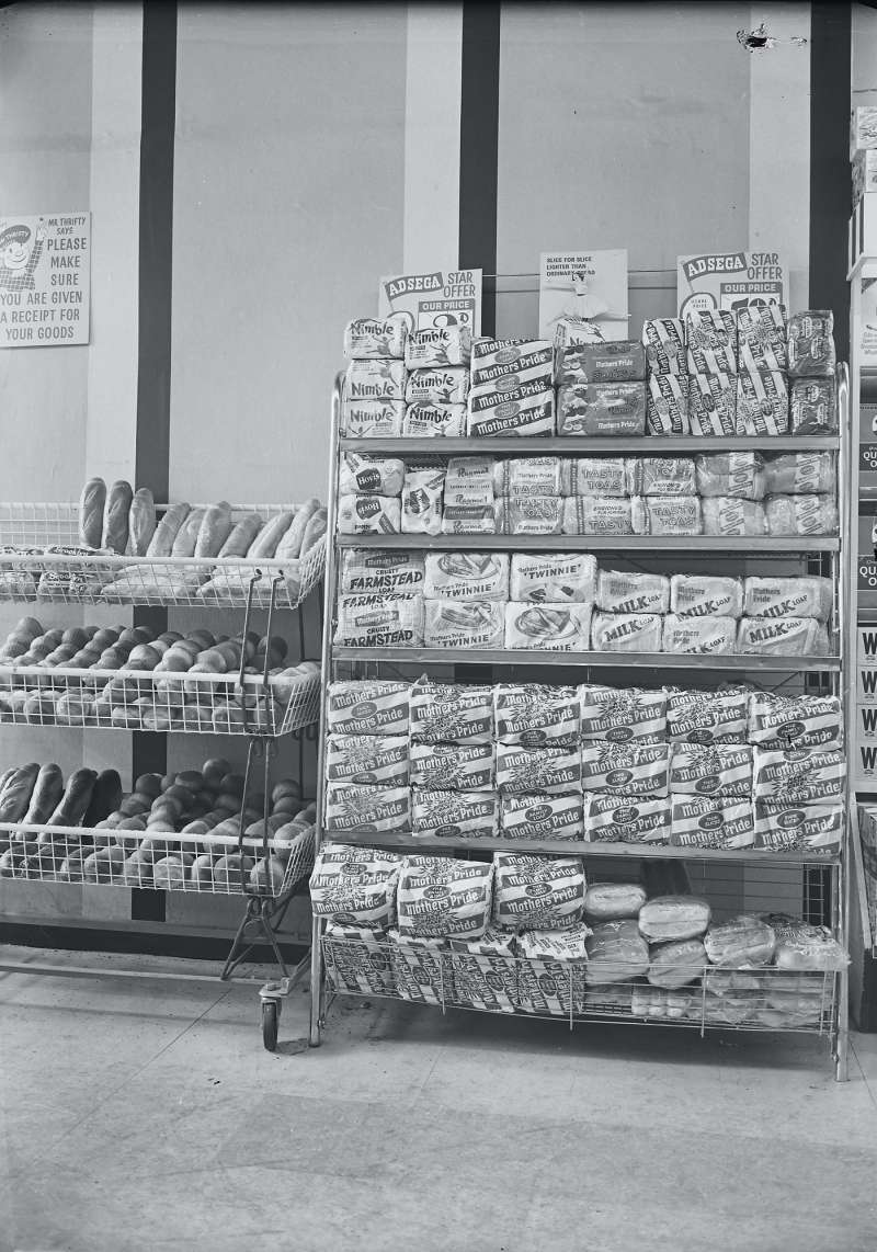 Bread counter display