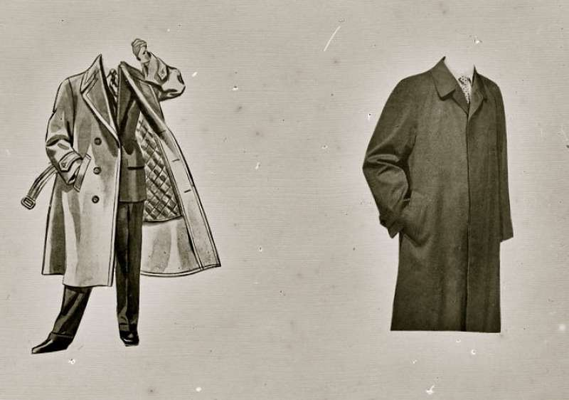 Illustration of overcoats