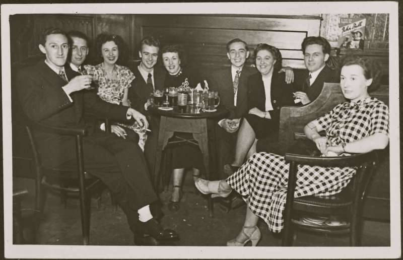 Group photograph In a pub