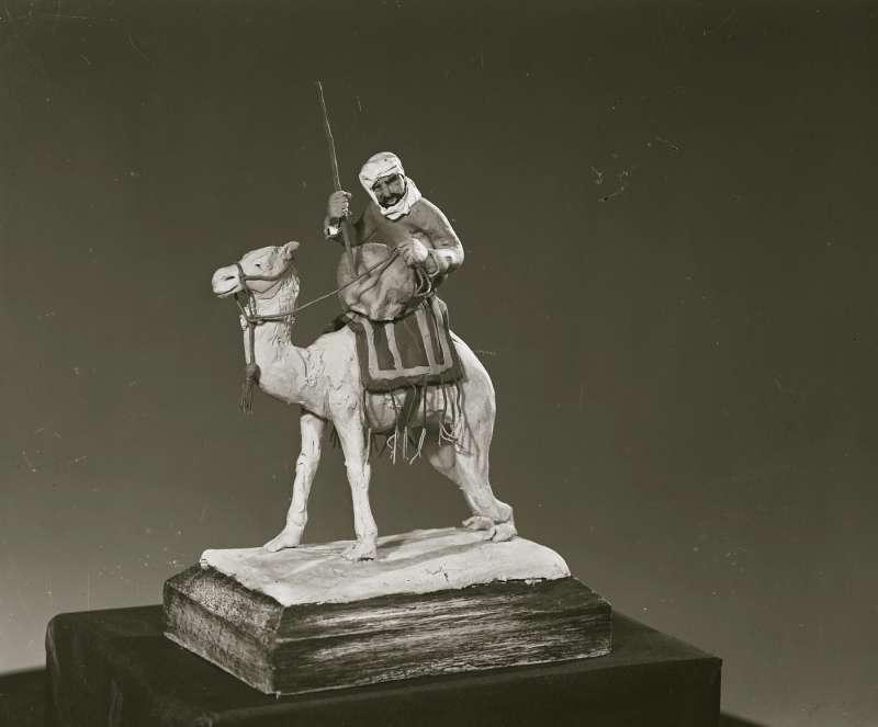Close up of camel figurine