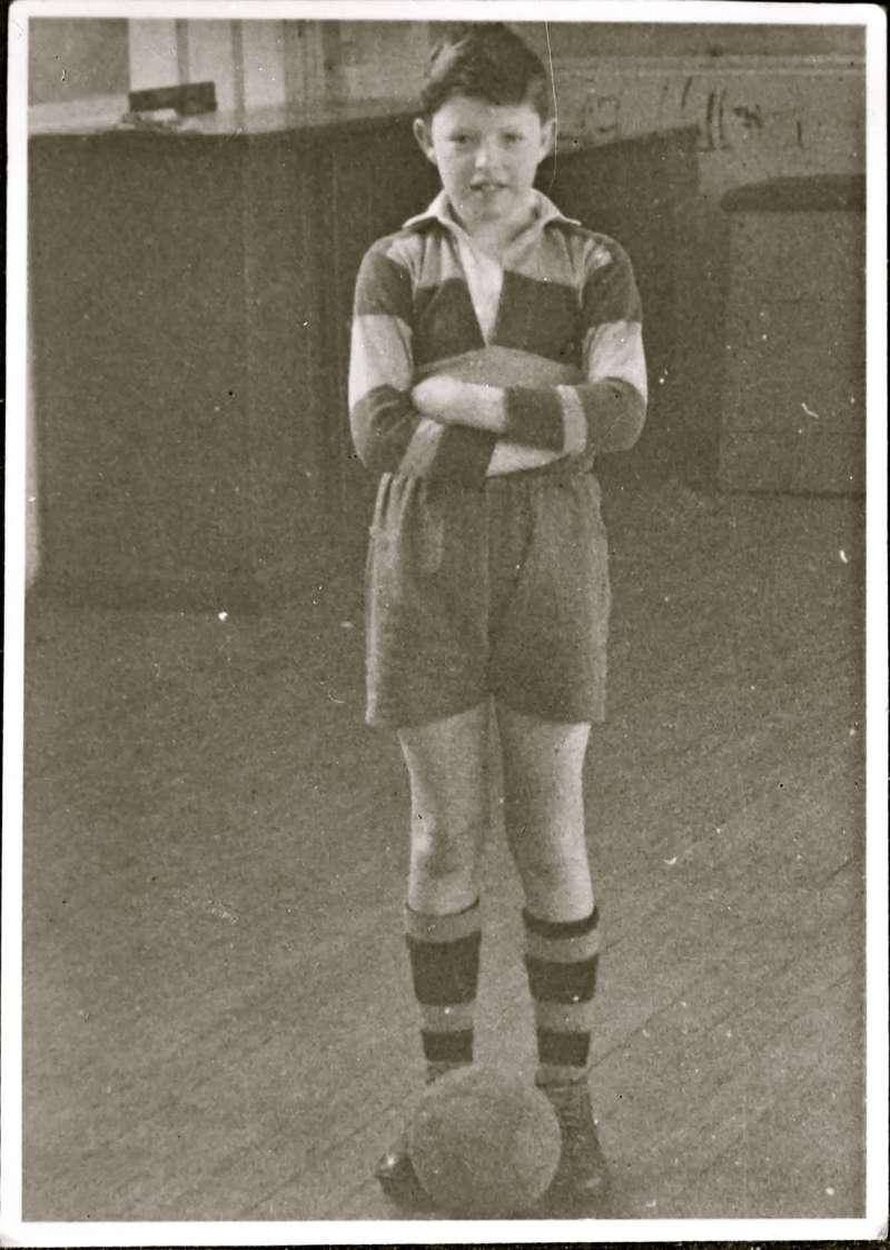 Boy in football kit